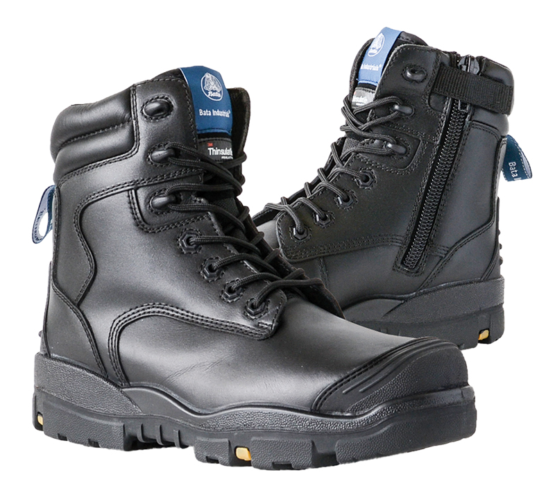 Image of Safety Boot Bata LONGREACH C/T Lace/Zip, A/P Midsole