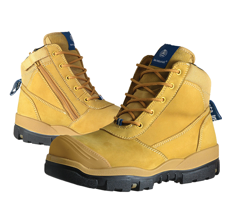 Image of Safety Boot Bata HORIZON Lace Up/Zip Side, Wheat