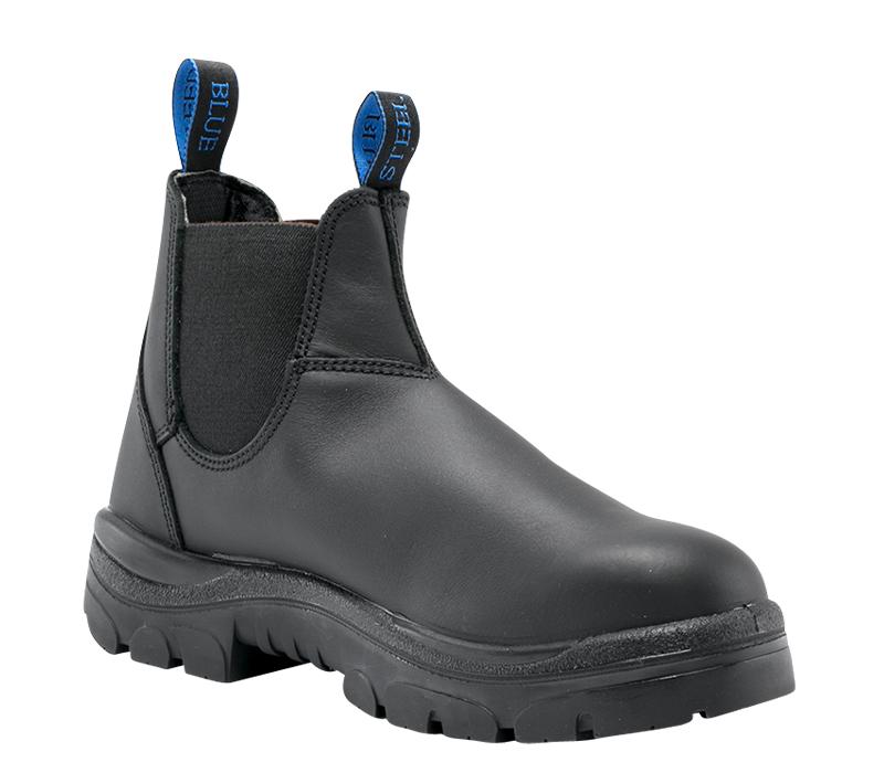 Image of Safety Boot Steel Blue HOBART Slip On