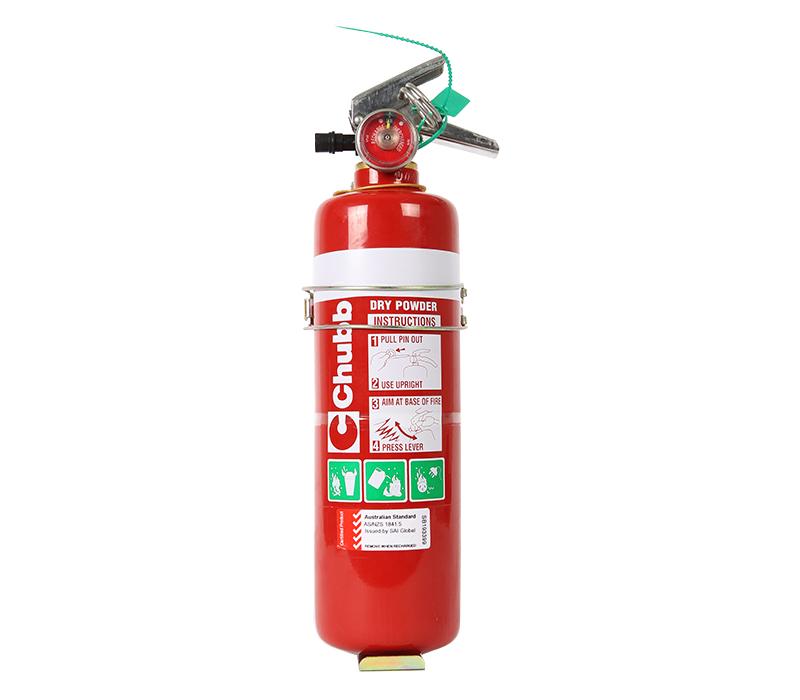 Image of Fire Extinguisher 1.0kg ABE Type (incl. Vehicle Bracket)