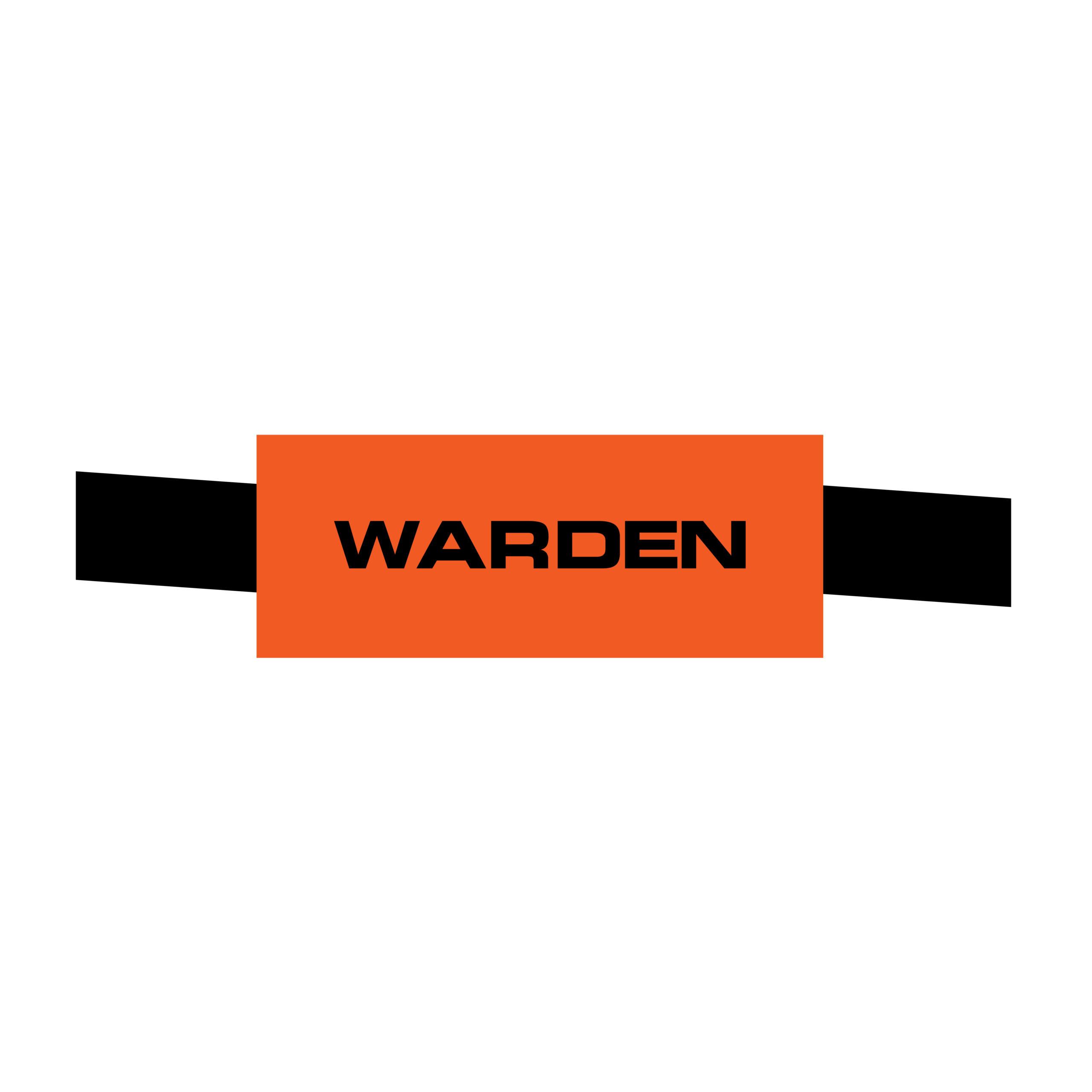 Image of Warden Armband, Orange, Velcro