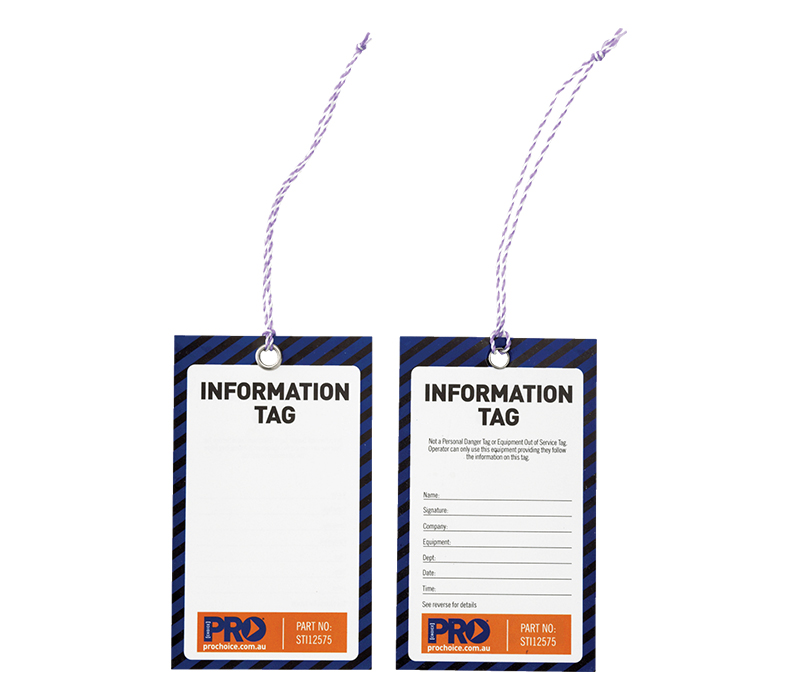 Image of ProChoice Information Blank Safety Tags, Pack/100