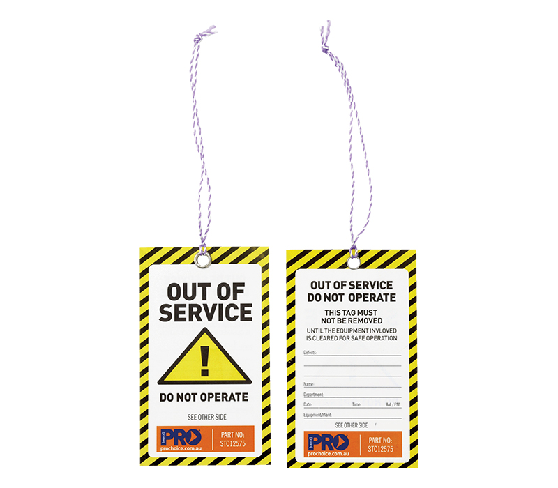Image of ProChoice OUT OF SERVICE Safety Tags, Pack/100
