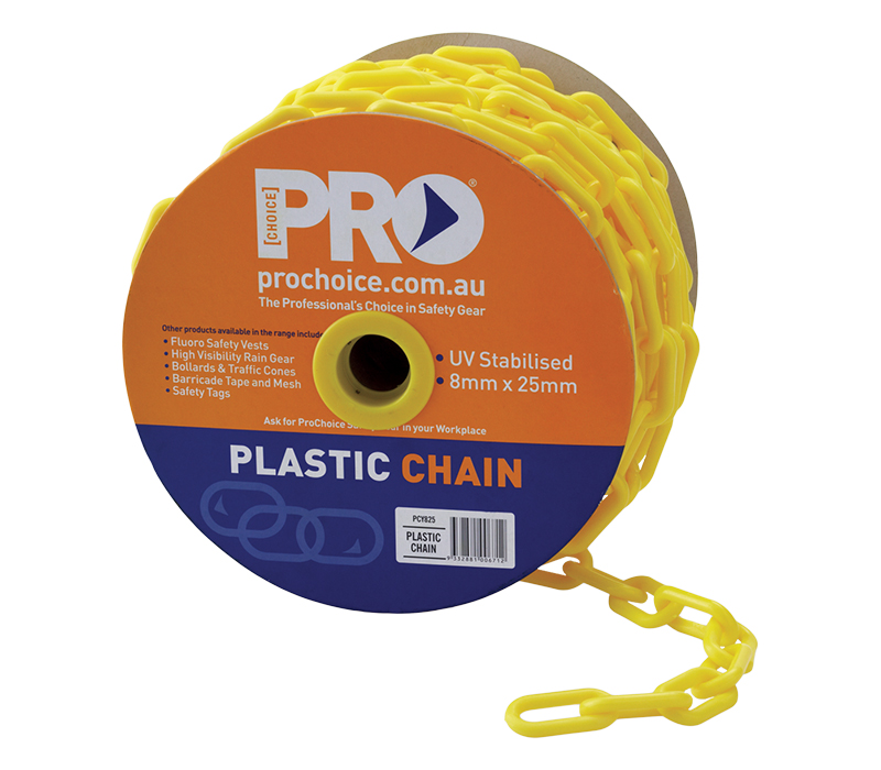 Image of ProChoice Safety Chain, Yellow, 25m Roll